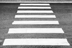 Pedestrian crossing road marking perspective view Stock Images
