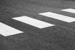 Pedestrian crossing road marking, white rectangles Stock Images