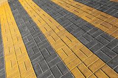 Pedestrian crossing road marking Stock Photo