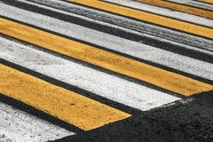 Pedestrian crossing road marking Royalty Free Stock Photo