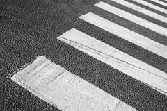 Pedestrian crossing road marking zebra Royalty Free Stock Photo