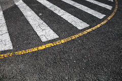 Pedestrian crossing road marking zebra Royalty Free Stock Images