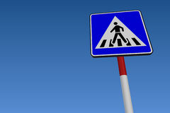 Pedestrian Crossing Road Sign Royalty Free Stock Images