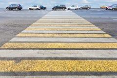 Pedestrian crossing on road Stock Photos