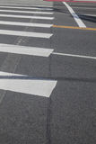 Pedestrian crossing on the road, zebra traffic Royalty Free Stock Image