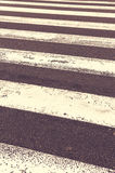Pedestrian crossing on the road Stock Image