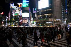 Pedestrian crossing, Shibuya Tokyo Stock Images