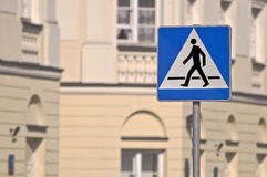 Pedestrian crossing sign. Stock Photo