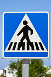Pedestrian Crossing Sign. A pedestrian crossing sign located in an urban setting Royalty Free Stock Photo
