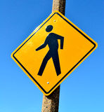 Pedestrian Crossing Sign Stock Photo