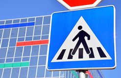 Pedestrian Crossing Sign Stock Images