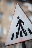 Pedestrian crossing sign detail Royalty Free Stock Images