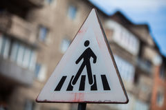 Pedestrian crossing sign detail Royalty Free Stock Photography