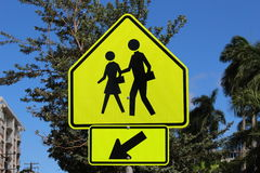 Pedestrian Crossing Sign Stock Image