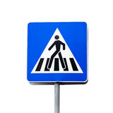 Pedestrian crossing sign isolated on white Royalty Free Stock Image