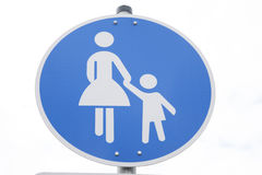 Pedestrian Crossing Sign Royalty Free Stock Photo