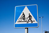 Pedestrian crossing sign. zebra Royalty Free Stock Images