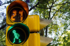 Pedestrian Crossing Signal Stock Images