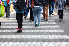Pedestrian crossing on street Stock Images