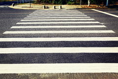 Pedestrian crossing traffic sign,  road sign of zebra crossing,  zebra stripes, crosswalk Stock Image