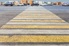 Pedestrian crossing on urban street Stock Images