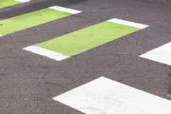 Pedestrian crossing in white royalty free stock image