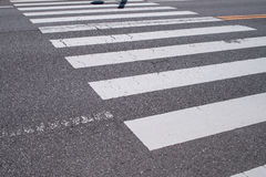 Free Pedestrian Crossing With Road Marking. White Lines On The Dark A Royalty Free Stock Photography - 78398247