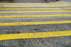Pedestrian crossing in yellow Royalty Free Stock Photography