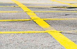 Pedestrian crossing in yellow Royalty Free Stock Photo