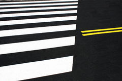Pedestrian crossing or zebra Stock Photos