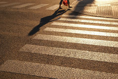 Pedestrian crossing, zebra street Royalty Free Stock Image