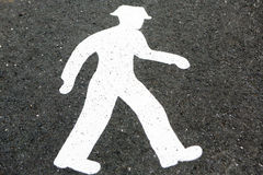 Pedestrian crossings sign Stock Image