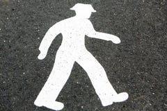 Pedestrian crossings sign. Reykjavik, Iceland, Pedestrian crossings sign Stock Image