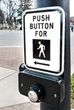 Pedestrian crosswalk button Stock Images