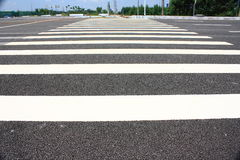 Pedestrian crosswalk Stock Photos