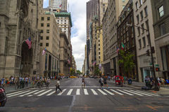 Pedestrian crosswalk at intersection of Fifth Avenue and 53rd Street, NYC Stock Photography