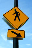 Pedestrian crosswalk sign Royalty Free Stock Photography