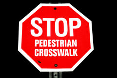 Pedestrian Crosswalk Stop Sign Royalty Free Stock Image