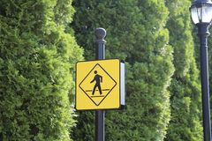Pedestrian Crosswalk. A crosswalk is where pedestrians can safely cross a street intersection Stock Images