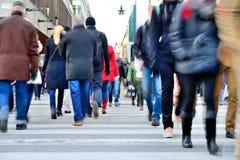 Pedestrian crowd walking Royalty Free Stock Image