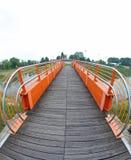 Pedestrian cycle bridge Stock Photography