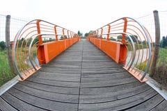 Pedestrian cycle bridge Stock Photos