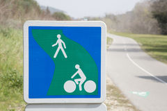 Pedestrian and Cycle Lane Path Royalty Free Stock Photos