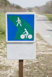 Pedestrian and Cycle Lane Path Stock Photography
