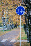 Pedestrian and cycle route Stock Photography