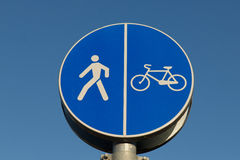 Pedestrian cyclist sign Royalty Free Stock Photos