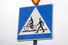Pedestrian and Cyclist Sign Stock Photography