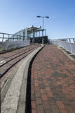 Pedestrian and cyclists bridge in Oldham Royalty Free Stock Images