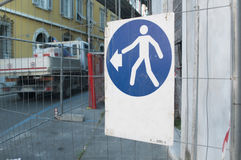 Pedestrian diversion Stock Photos