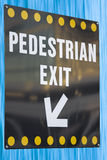 Pedestrian exit sign Royalty Free Stock Image